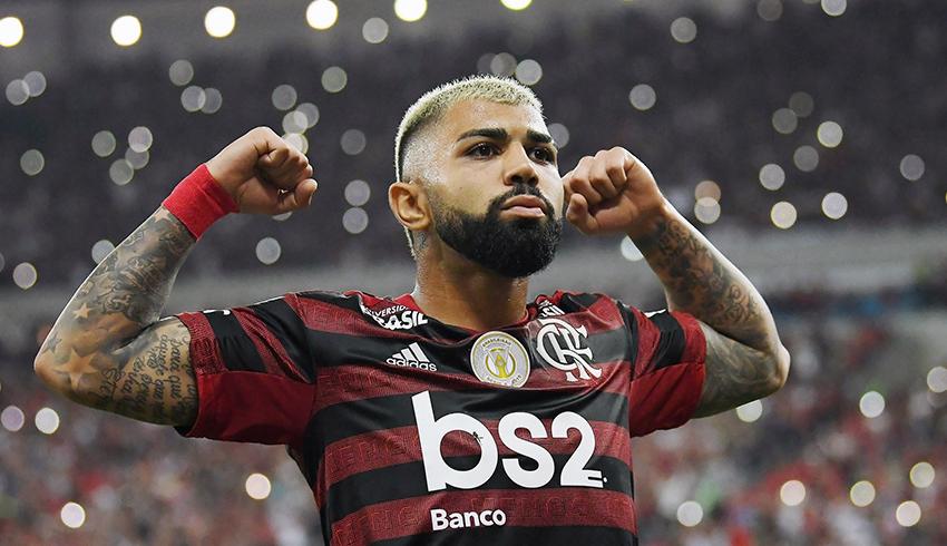 Gabriel Barbosa celebration goal in Brasileirão match
