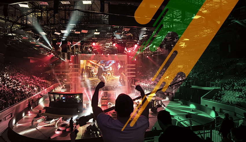 eSports fans cheering during Counter-Strike: GO DreamHack tournament