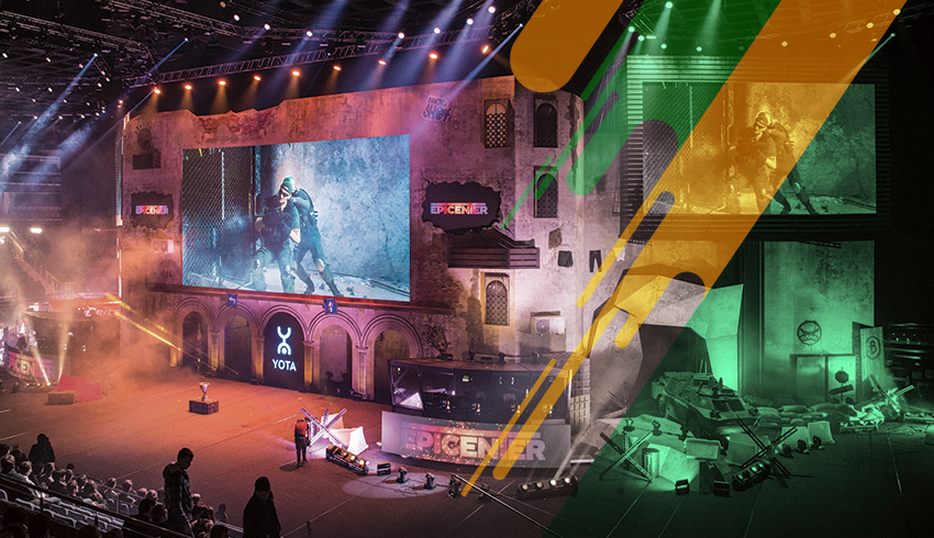 Counter-Strike: GO Golden League eSports tournament arena