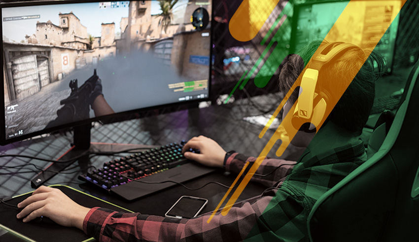 Counter-Strike: GO United Pro Series gamer playing in an eSports tournament