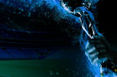 Football cup over Grêmio stadium