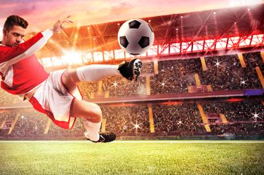 Internacional de Porto Alegre football player kicking the ball