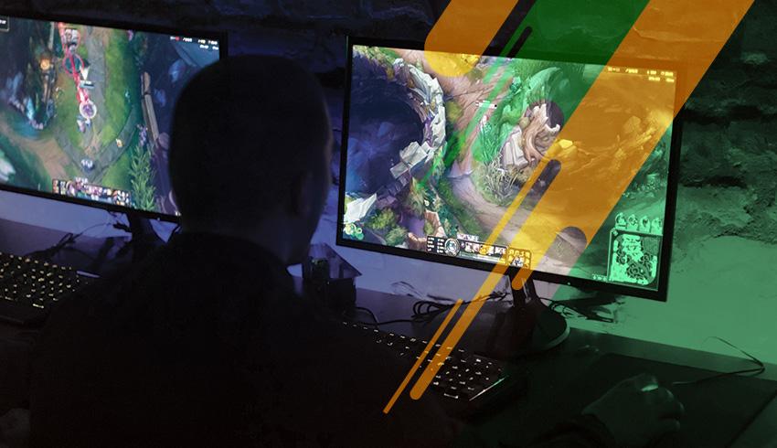 League of Legends SuperCopa Flow gamer during esports tournament