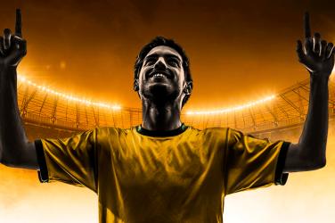brazilian football cheering goal