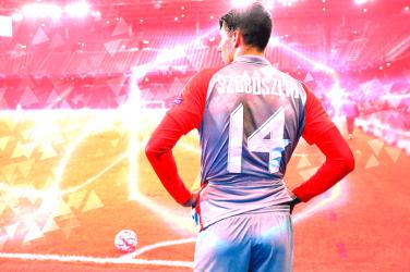 Dominik Szoboszlai wearing RB Salzburg 14 shirt