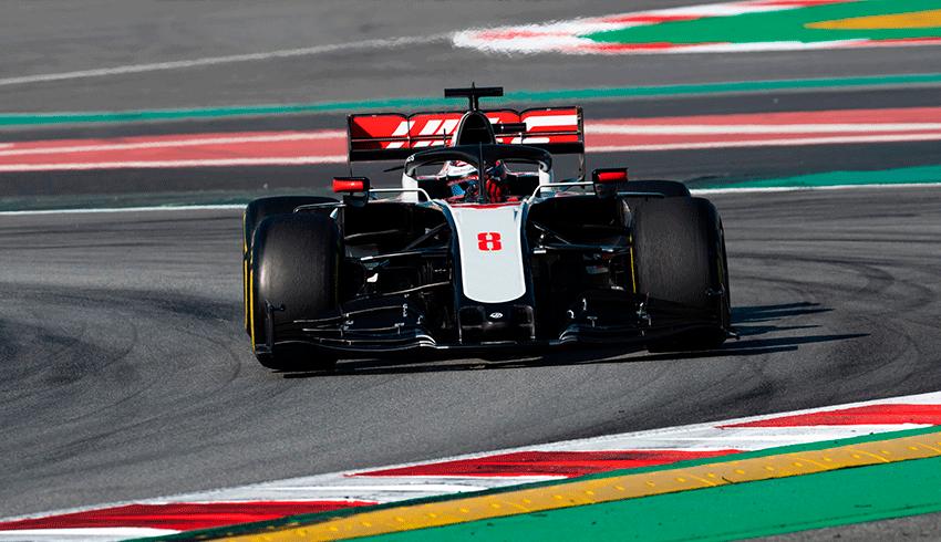 Romain Grosjean Formula 1 car