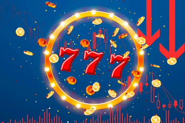 Triple 7 slot game symbol in golden circle