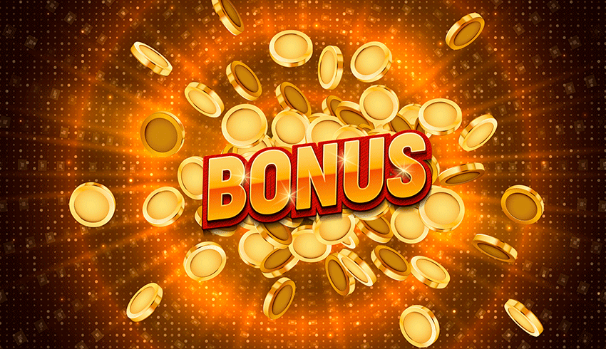 Slot Game bonus word coming out or a pile of coins