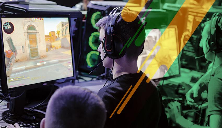 Counter-Strike: GO ESL Meisterschaft player disputing esports tounament