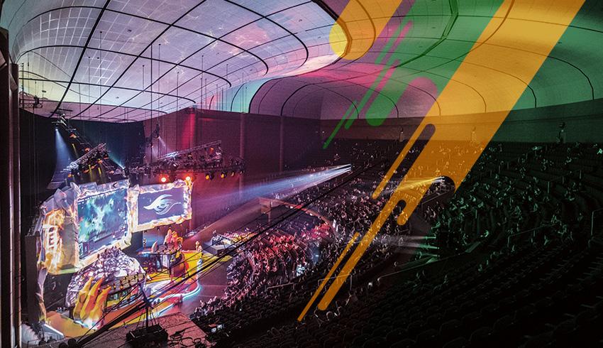 eSports arena hosting Dota 2 Epic League Division 2 tournament