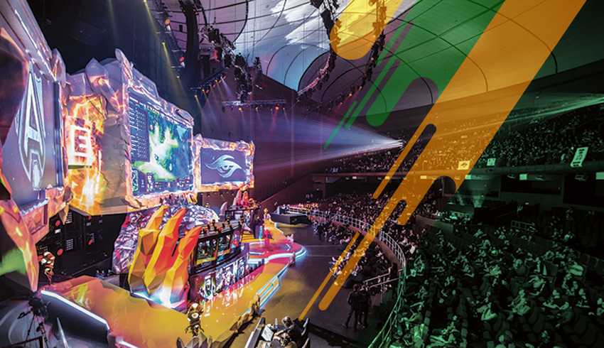 Dota 2 Realms Collide esports tournament arena