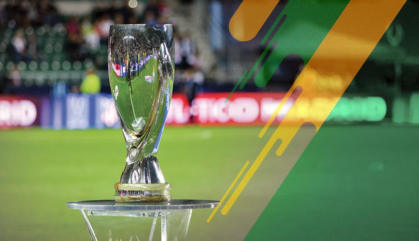 UEFA Super Cup podium